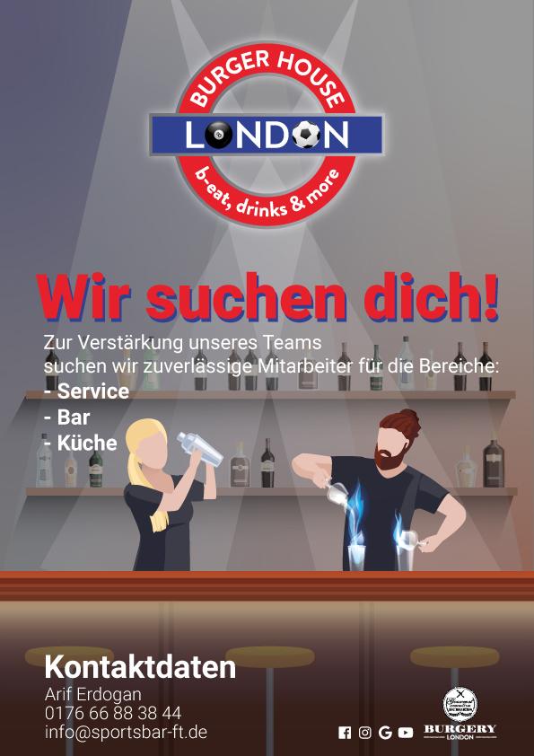 London Sportsbar frankenthal - Wir suchen dich!
